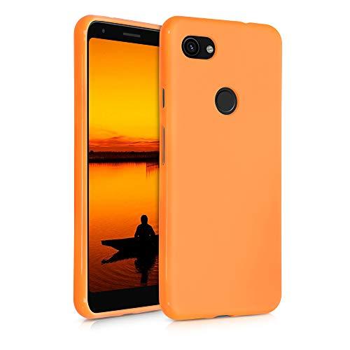 kwmobile Hülle kompatibel mit Google Pixel 3a XL - Hülle Silikon - Soft Handyhülle - Handy Hülle in Cosmic Orange