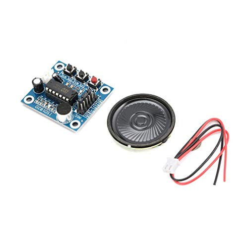 ISD1820 10s Mic Voice Sound Playback Board Recording Recorder Module Kit Microphone Audio Speaker Loudspeaker for Arduino,Blue
