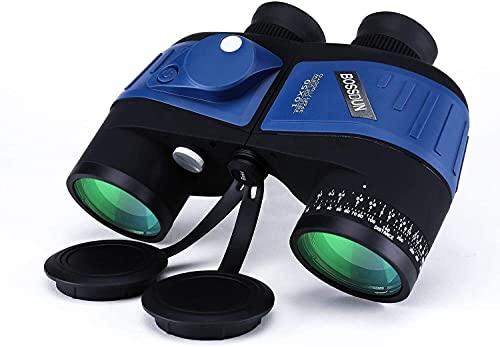 HGJINFANF La precisión de Alta Densidad le Brinda precisión 10x50 binoculares Profesionales para Adultos, brújula de navegación y teleférico, Adecuado al Aire Libre (Color : B)