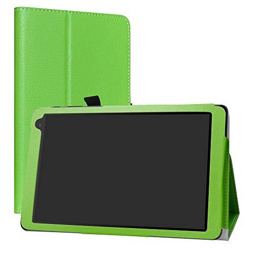 Alcatel 1T 10inch Funda,LiuShan Folio Soporte PU Cuero con Funda Caso para 10' Alcatel 1T 8082 10inch(Not fit Alcatel 1T 7 Inch 8068) Android Tablet,Verde