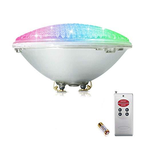 COOLWEST RGB 18W Lampe de Piscine Lumière LED PAR56 12V DC/AC, contrôle par télécommande, Etanche IP68 Éclairage sous-marin