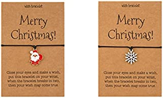 Sponsored Ad - Merry Christmas DIY Bracelets, With Gift Card, Variety of Choices, Adjustable Charm Christmas Pendant, Tre...