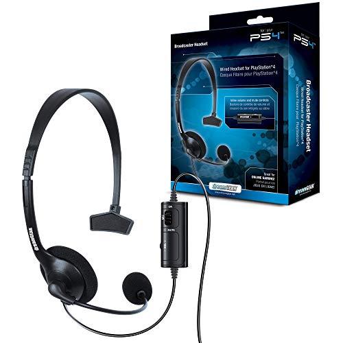 dreamGEAR Radiodiffuseur - casque (Câblés, console de jeu, Monaural, Bandeau, Noir, PS4)