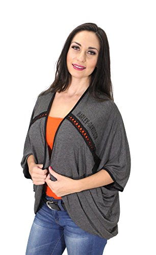 Harley-Davidson Womens Winged B&S Bling with Cardigan- L/XL