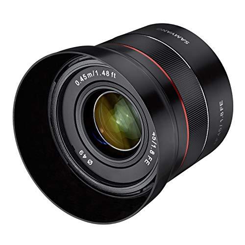 Samyang AF 45 mm F1.8 Sony FE (Tiny but Premium) - Vollformat und APS-C Festbrennweite Autofokus Objektiv Sony E FE E-Mount für Sony A9 A7 A6600 A6500 A6400 A6300 A6000 A5100 A5000 Nex Kamera