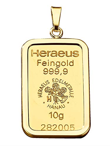KLiNGEL Anhänger Goldbarren Gelb
