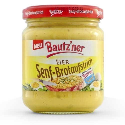 Bautzner Senf-Brotaufstrich 'Eier' (200 ml)
