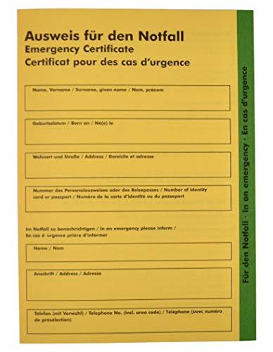 Internationaler Notfallpass - Ausweis...
