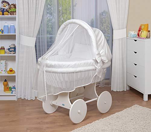 WALDIN Landau/berceau pour bébé complet -44 modèles disponibles,Cadre/Roues blanc laqué,couleur...