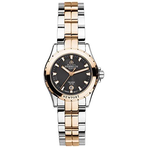 Michel Herbelin Unisex Erwachsene Analog Uhr mit Edelstahl Armband 12870/BTR14