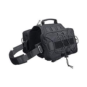 EXCELLENT ELITE SPANKER Dog Pack Hound Dog Saddle Bag Backpack for Travel Camping Hiking Medium & Large Dog with 2 Capacious Side Pockets