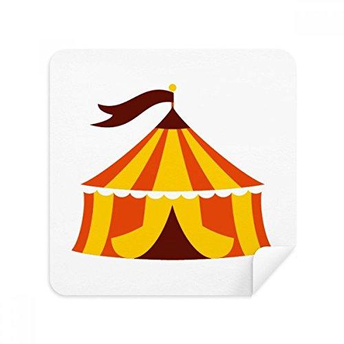 Amusement Park Tent Kleur Illustratie Bril Schoonmaken Doek Telefoon Scherm Cleaner Suede Stof 2 stks