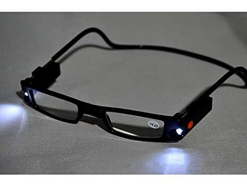 Outech Gafas de Lectura con Luz LED, Gafas para Leer Plegables, Montura...