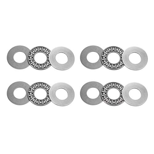 uxcell AXK1226 Thrust Needle Roller Bearings with Washers 12mm Bore 26mm OD 2mm Width 4pcs