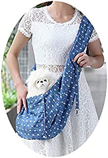 Boutique-girl Reversible Carrier Sling Bags for Cats/Small Dogs Adjustable Denim Pet Dog Shoulder Bag