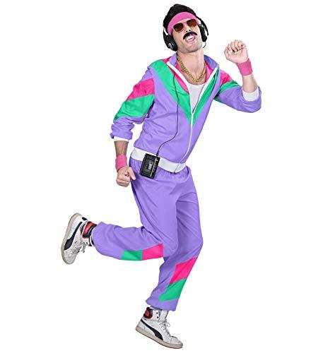 24costumes Trainingsanzug Kostüm 70er 80er 90er | lila, pink, türkis | Jogginganzug | Sport & Verkleidung: Größe: M
