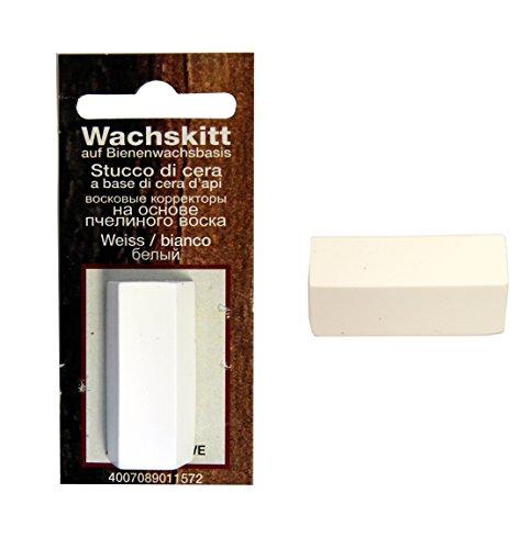 Wachskitt Stange Farbe Weiss 7g von Bindulin - weiss-farbenes Kitt zur Ausbesserung von Holz Möbel Kunststoff-...