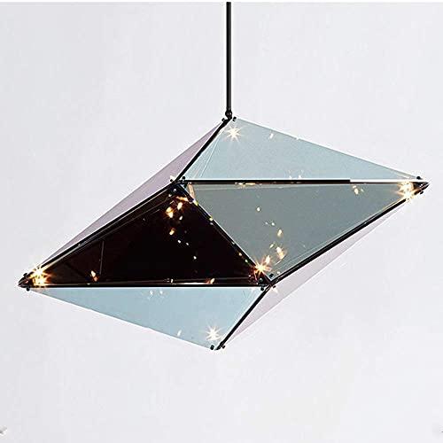 WGFGXQ Luz Decorativa de Cristal con luz LED de Diamante Creativo, 20W, luz Decorativa para Sala de Estar, Dormitorio, para 15-20 Metros Cuadrados (Color: Negro)