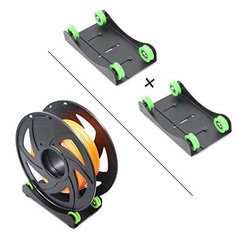 Befenybay 2 soportes de filamentos para impresora 3D para soporte universal ajustable de filamento para PLA/ABS/Nylon/Wood/TPU/otros materiales de impresión 3D