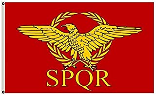 Fyon Large Roman Empire Senate and People of Rome Flag 3X5Ft