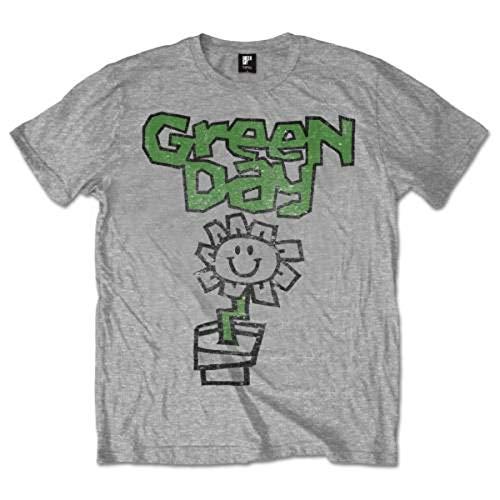 Rockoff Trade Flower Pot T-Shirt, Gris (Grey), S Homme