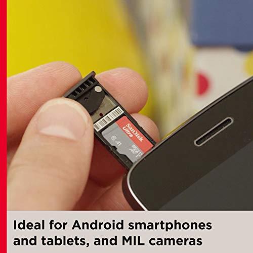 SanDisk Ultra 32 GB microSDHC Speicherkarte + SD-Adapter mit A1 App-Leistung bis zu 120 MB/s, Klasse 10, U1