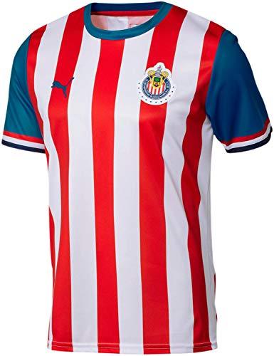 PUMA - Mens Chivas Fan Jersey Home 19-20, Size: Small, Color: Puma Red/Puma Royal