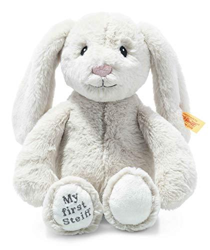 Steiff 242076 Soft Cuddly Friends My first Steiff Hoppie Hase - 26 cm - Kuscheltier für Babys - creme (242076), weiß 169 g