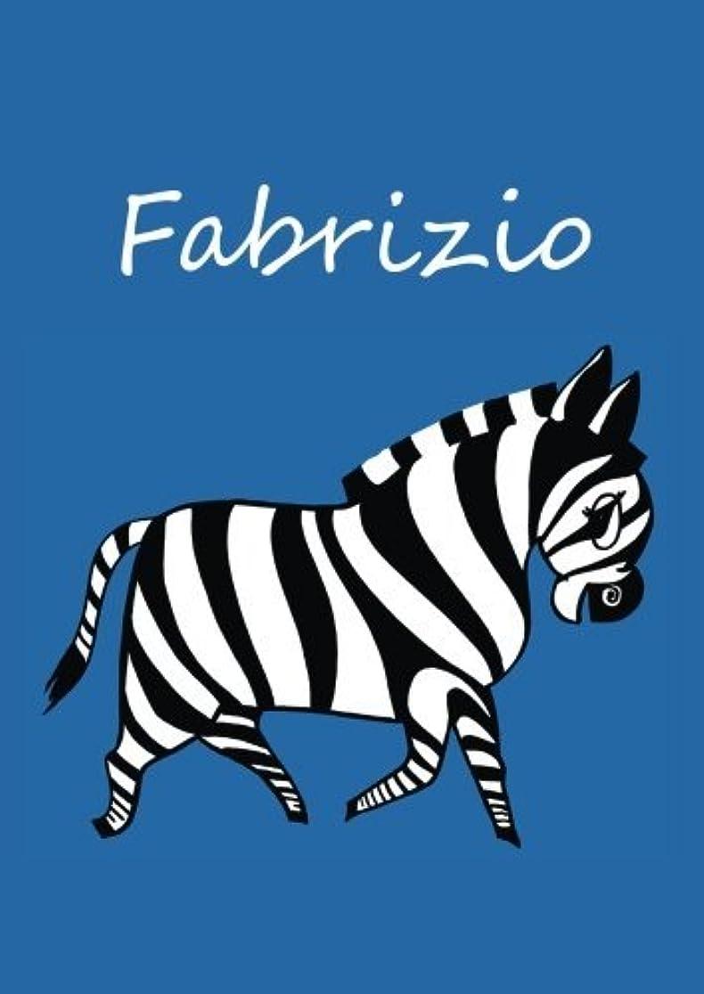 取り消す野な抜本的なFabrizio: individualisiertes Malbuch / Notizbuch / Tagebuch - Zebra - A4 - blanko