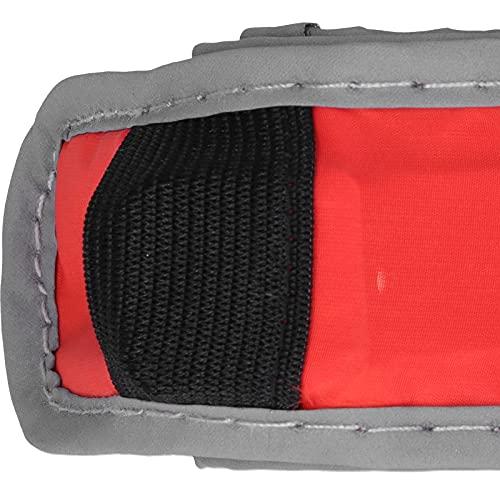 BITHEOUT Brazalete Iluminado, Brazalete Iluminado Brazalete LED Plástico de poliéster Reflectante para Correr de Noche para Exteriores para Acampar(Red)