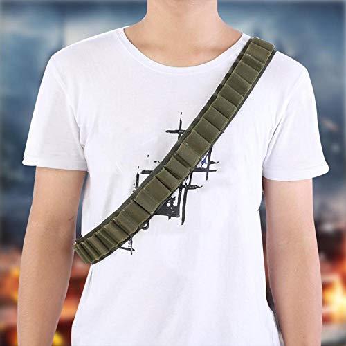 DAUERHAFT Bandit Fancy Dress Set Porta municiones Bandolier Belt Shooting Accesorio Duradero, Bueno para propietarios de escopetas y Rifles(Green)
