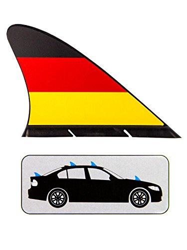 Fanflosse für Autos Deutschland Fussball Fanartikel schwarz rot gelb 19x14cm