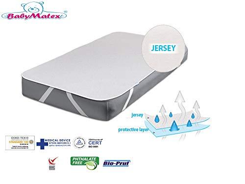 BabyMatex Protège-matelas imperméable respirant 100% coton pour bébé/enfant 70 x 140 cm