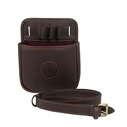 Tourbon Leather Shooting Shotgun Shell Cartridge Pouch with Waist Belt