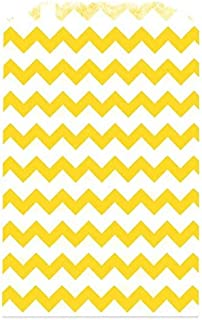 The Party Popper Chevron Pattern Paper Bag 12 Pack, Yellow