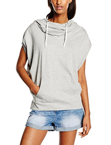 Urban Classics Damen Ladies Sleeveless Terry High Neck Hoody Pullover, Grau (grey 111), X-Small