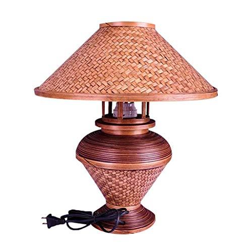 Lámpara de mesa de iluminación / de escritorio multifuncional lámpara de mesa de bambú vintage, lámpara de noche de dormitorio caliente, sala de estar de mesa lámpara de mesa lámpara de mesa modernas