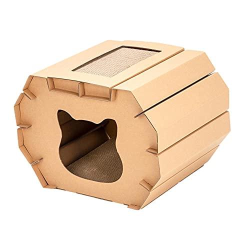 Liujuan Grattaschia per gatti in cartone ondulato a forma di orecchie di carta resistente da montare