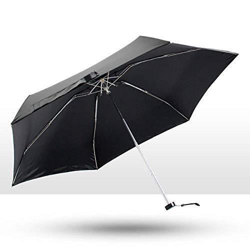 Sonnenschirm Regenschirm Creative Mini Pocket Folding Sonnenschirm Regenschirm Regen Frauen Schwarz Beschichtung Uv-Schutz Regenschirm Mädchen wasserdichte Regenschirme Männer Schwarz