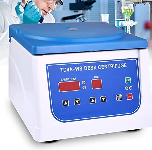 XJYDS Desktop-Zentrifugen-Maschine, PRP-Zentrifuge mit digitaler Anzeige, 500~4000 U/min einstellbar, Platz für 12 * 15ml-Reagenzgläser, geeignet für 2-5-7-10ml Blutsammelrohr
