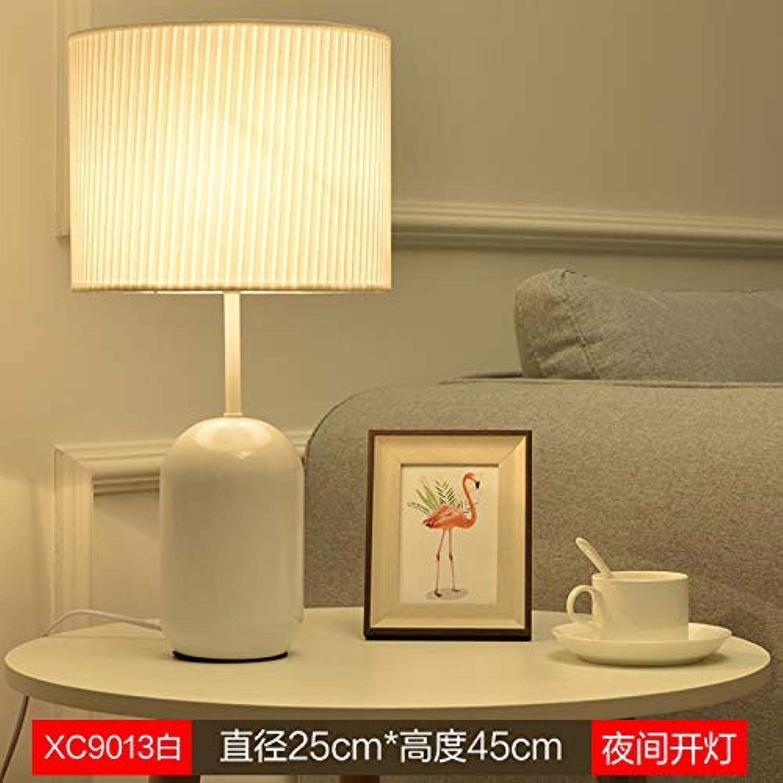Agorl Einfache moderne wohnzimmer wohnzimmer kreative nordische studie schlafzimmer nachttischlampen, champagner XC9013 wei, druckschalter