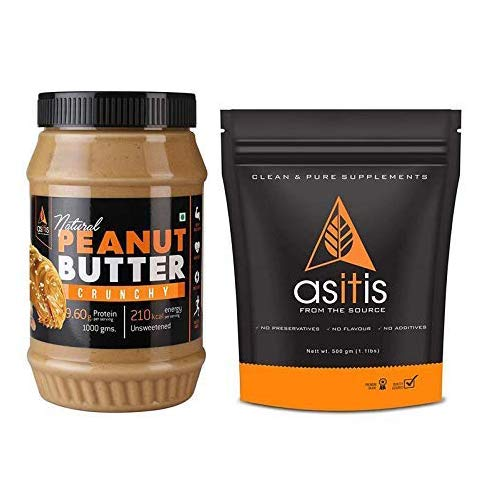 AS-IT-IS Nutrition Whey Protein Concentrate 80% (USA Made) Unflavoured, tested for purity (Whey + Crunchy)