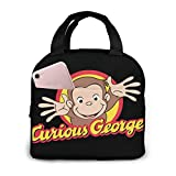 Chaxiedou Curious George Lunch Box Tote Insulated Cooler Box For Travel/Picnic/Work/School