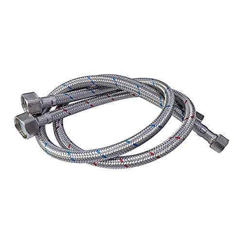 Midanya 32-Inch Length Faucet Connector Braided Stainless Steel - 3/8