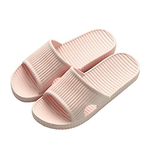 Damen- / Herren-Duschsandalen Slip-On-Hausschuhe rutschfeste Sandalen für den Innen- und Außenbereich Weiche Schäume Sohle Pool Badeschuhe Pink EU 40/41