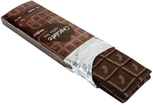 Rainbow Socks - Damen Herren Lustige Tafel Schokolade Socken - 1 Par - Milchschokolade - Größen 36-40