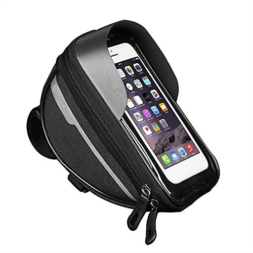 WJY Bolsa de Cuadro de Bicicleta, Bolsa Manillar Bicicleta Bolsa Bicicleta Cuadro, Bolsa Impermeable para Bicicleta, para iPhone 12 11 Pro MAX XS XR X 8 6 Plus Samsung Smartphone por Debajo de 6.5''