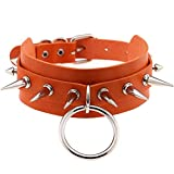 SUNMM 1Pc Stud Collar Punk Gótico Collar Hecho A Mano Silver Spike Spike Rivet Necklace, Nl8342Or, China