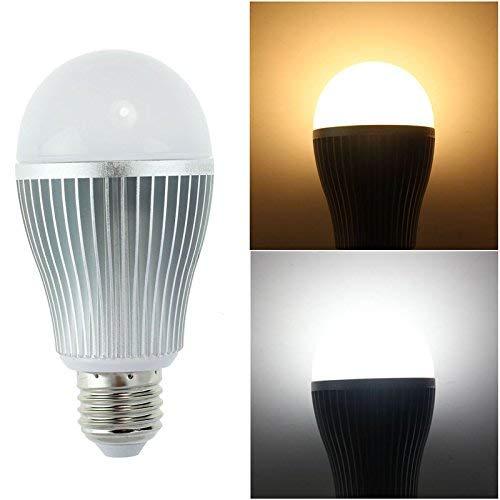 Lighteu, 1 x Ampoule LED WiFi 9W/E27, Milight original ®, double blanc Intensité variable, température de couleur réglable entre blanc chaud et blanc froid [Classe énergétique A+]