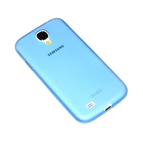 doupi UltraSlim Hülle für Samsung Galaxy S4 i9500, Ultra Dünn Fein Matt Handyhülle Cover Bumper Schutz Schale Hard Case Taschenschutz Design Schutzhülle, blau
